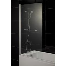 Шторка для ванны Eger 80 см, левая 599-02L стекло прозрачное (код 047296)