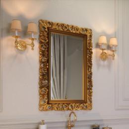 Зеркало для ванной комнаты Marsan VINCENT в цвете 100x75см (Марсан 2-Винсент) античное золото/серебро