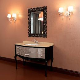Чорна мармурова стільниця для тумби 1170х560 Marsan ANGELIQUE з умивальником (Марсан 10-Анжеліка)