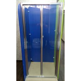 Душові двері Atlantis ZDM-80-2 профіль хром/скло прозоре, лівостороння