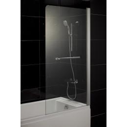Шторка на ванну Eger 80x150 (599-02L grey), скло тоноване, ліва