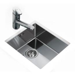 Кухонная мойка Teka из нержавеющей стали, глянцевая, монтаж под столешницу, 44х44см BE LINEA 40.40 R15 10125124 Тека
