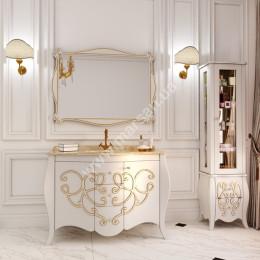 Тумба напольная для ванной комнаты 1200x560мм Marsan BERNARDE (Марсан 8-Бернард), контур золото/серебро