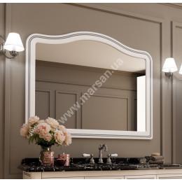Зеркало в ваную Marsan MELISSA 1250x1000мм, (Марсан 3-Мелисса) белое/слоновая кость+ золото/серебро