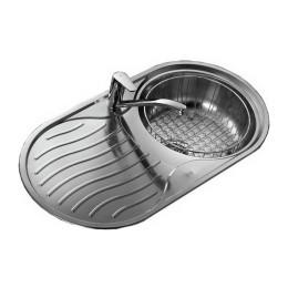 Кухонна мийка Teka з нержавіючої сталі, полірована, врізна, 84х44см DR 80 1B 1D 10110007 Тека