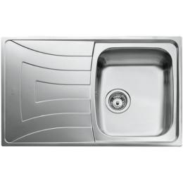 Кухонна мийка Teka з нержавіючої сталі, матова, врізна, 79х50см UNIVERSO 1B 1D 79 10120001 Тека