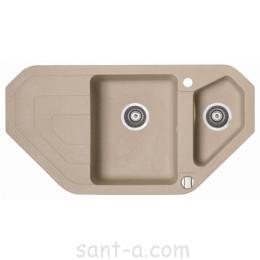 Врізна кухонна мийка Marmorin STEN trapez кутова (385 613 0xx)