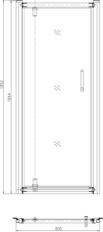 appollo Дверь в нишу Appollo 900x1850 мм TS-0509D 90x185 (код 028910)